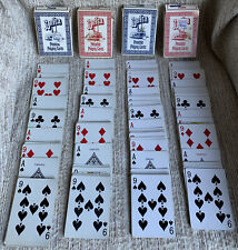 Lot of 4 Vintage Hoyle Delta Pinochle Playing Cards~All Full Decks~Free Shipp