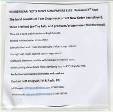 (EN165) Rubberbear, Let's Move Somewhere Else - 2012 DJ CD