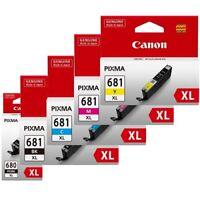 5 x Canon Genuine PGI-680XL Black CLI-681XL Cyan Magenta Yellow Ink Cartridges