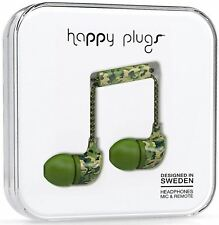Happy Plugs In-ear Headphones With in Line Remote and Microphone - Camouflage