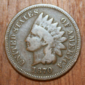 1870 Indian Head Cent Penny VG [122]