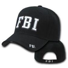Black F.B.I Federal Bureau Investigation FBI Police Baseball Cap Hat Caps Hats
