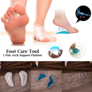 Foot Arch Support Insoles Orthotic Pain Relief Gel Silicone Pad Shoe Adult Kids