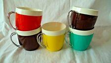 SET Thermal Coffee Cups Mid Century Modern Plastic