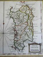 Sardinia Sardegna Italia Mediterranean Island Italy Caglieri 1760 Bellin map