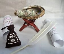 SMUDGE KIT CHAKRA WITH ABALONE SHELL STAND SAGE AND 7 CHAKRA CRYSTALS