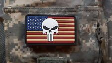 PVC RUBBER US Punisher Flag Patch Navy SEAL Team 6 DEVGRU SFOD-D DELTA Military