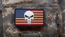 PVC RUBBER US Punisher Flag Patch Navy SEAL Team 6 DEVGRU SFOD-D DELTA Military