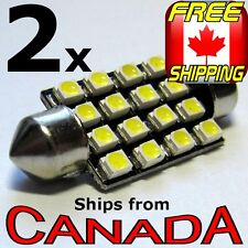 2x COOL WHITE 38mm LED Festoon Bulb 16x LED chips - 12v