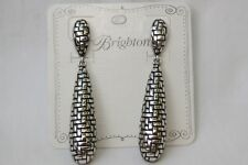 Silver Long Bead Post Earrings New Authentic Brighton Talana Woven