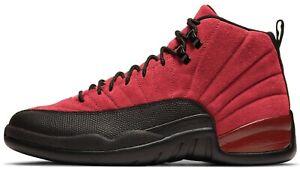 Air Jordan 12 Reverse Flu Game Retro Varsity Red Black men shoes