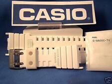 Casio watch band G-5500 C-7. G-shock white Resin strap.Original Two-Piece Watchb