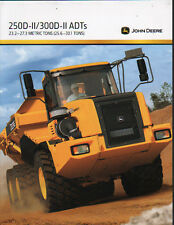 John Deere 250D-II and 300D-II Articulated Dump Truck Brochure Leaflet