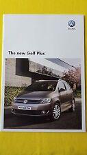 VW Golf Plus Volkswagen marketing car sales catalogue brochure April 2009 MINT