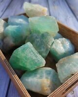 1 lb. Natural Green Large Flourite Crystal Rough  Mineral Specimen Lot US SELLER