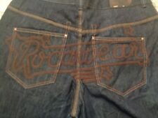 Authentic ROCAWEAR Mens 40 x 34 Dark Blue Denim Jeans Pants NWOT EMBRODIERED