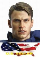 1/6 Chris Evan Captain America 6.0 Head Sculpt Angry version for phicen ❶USA❶