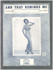 And That Reminds Me 1957 DELLA REESE Vintage Sheet Music