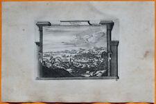 VAN DER AA Gravure originale c1725 VUE DE MARSEILLE Provence Méditerranée