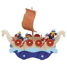 """Wikingerschiff """"Tuva"""" - inkl. 4 Biegepuppen & Zubehör - aus Holz - von Goki"""