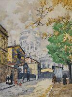 Roger de la Broye Sacre Coeur Paris France Rue de Chevalier de la Barre Etching