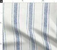 Faded Blue Stripes French Ticking Modern Spoonflower Fabric by the Yard