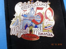 Disney Disneyland Pin DLR Celebrating 50 Years of Magical Memories MIB Castle LR