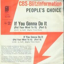 """7"""" People 's Choice/If you gonna do it (PROMO) D"""