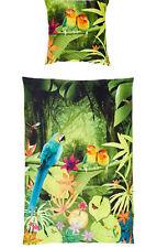 2 tlg Mako Satin Bettwäsche 135x200 cm Bierbaum B-Ware Papagei 533