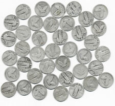 US STANDING LIBERTY SILVER QUARTER ROLL ALL FULL DATES