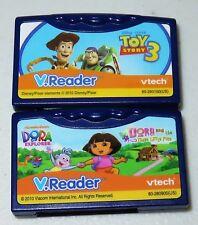 2 Vtech V.Reader Animated E-Book Game Cartridges: Toy Story 3, Dora the Explorer