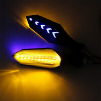 2x Motorcycle LED Turn Signal Lamp Sequential Flowing Indicator Lights Amber ABS
