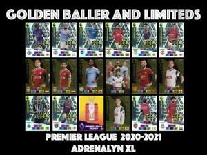 PANINI PREMIER LEAGUE ADRENALYN XL 2020/021 GOLDEN BALLER LIMITED EDITION