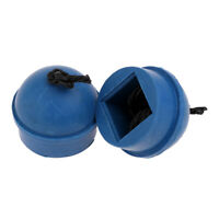 2 Pieces Pool Snooker Billiard Cue Pool Table Chalk Holder Blue Rubber Holder