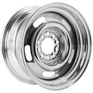 "Vision Rally 57 15x8 5x4.5""/5x4.75"" -6mm Chrome Wheel Rim 15"" Inch"