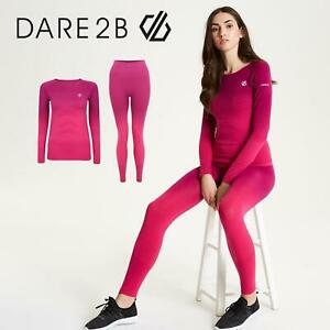 Dare2b Performance Base Layer Set In The Zone DWU340 Cyber Pink