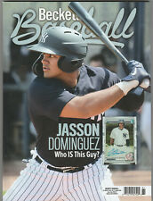 August 2020 #173 BECKETT BASEBALL CARD PRICE GUIDE! JASSON DOMINGUEZ YANKEES!