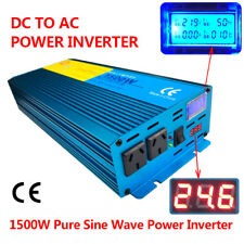 3000W Peak LCD Pure Sine Wave Power Inverter DC 24V TO AC 240V Boat Car Caravan