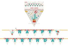 Circus Carnvial Party Supplies Happy Birthday Paper Flag Banner Decoration 3.35M