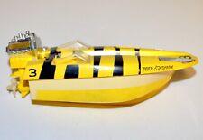 Vintage 1960s Ideal Boaterific Shark Pack Motorized Tiger Shark Speedboat