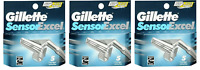 NEW Gillette Sensor Excel Refill Razor Blades - 5 Cartridges (3 Pack)