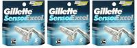 NEW Gillette Sensor Excel Refill Razor Blades - 5 Cartridges (3 Pack)