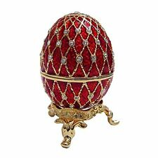Faberge Egg W/Swarovski Crystals Wedding Proposal Trinket Jewelry Ring Gift Box