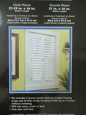 ALLEN ROTH REAL COLONIAN WINDOW SHUTTERS WHITE 27x29 in. - NEW