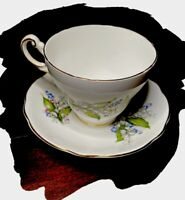 Vintage Regency English Bone China Floral England Tea Cup & Saucer