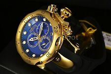 New Invicta 16148 Venom Swiss Made Chrono Blue Dial GP Polyurethane Strap Watch