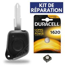 KIT Coque Clef Boitier pour Telecommande PEUGEOT 106 206 306 406 ✚ Pile ✚ Switch