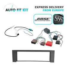 Audi A4  2000- 1 Din Single DIN Fascia BOSE Radio Stereo Replacement Kit Fascia