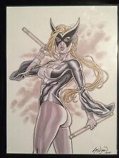 Original Art John Stinsman MOCKINGBIRD MARVEL 9 x 12 Ink commission Avengers