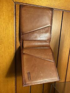 Coach Leather Wallet - Dark Saddle- Vintage. RARE.
